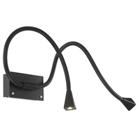 Stretch 25 inch 17.24 watt Black Swing Arm Wall Light
