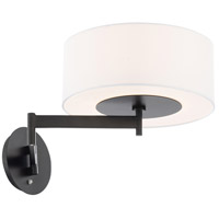WAC Lighting BL-83023-BK Chelsea 23 inch 9 watt Black Headboard Light Wall Light dweLED