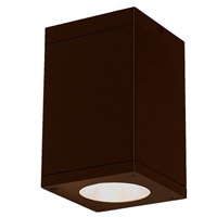 WAC Lighting DC-CD05-F827-BZ Cube Architectural LED 5 inch Bronze Flush Mount Ceiling Light