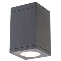 WAC Lighting DC-CD05-F827-GH Cube Architectural LED 5 inch Graphite Flush Mount Ceiling Light