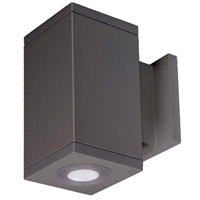 WAC Lighting DC-WS06-U840B-GH Cube Architectural LED 6 inch Graphite Wall Sconce Wall Light