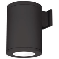 WAC Lighting DS-WS08-F30B-BK Outdoor Lighting LED 12 inch Black Single Side Outdoor Wall Mount in Towards the Wall, 3000K, 85, 8