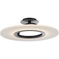 WAC Lighting FM-21720-BK Elektron LED 20 inch Black Semi-Flush Mount Ceiling Light dweLED