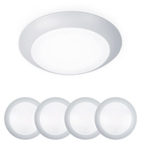 WAC Lighting FM-304-930-WT-4 Disc LED 6 inch White Flush Mount and Retrokit Kit Ceiling Light