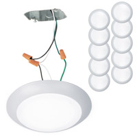 WAC Lighting FM-306-930JB-WT-10 Disc LED 7 inch White Flush Mount Ceiling Light