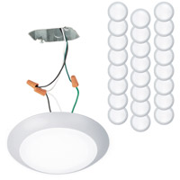WAC Lighting FM-306-930JB-WT-24 Disc LED 7 inch White Flush Mount Ceiling Light