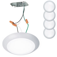 WAC Lighting FM-306-930JB-WT-4 Disc LED 7 inch White Flush Mount Ceiling Light
