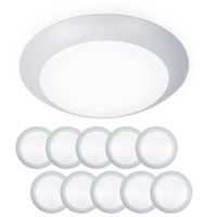 WAC Lighting FM-306-930-WT-10 Disc LED 7 inch White Flush Mount and Retrokit Kit Ceiling Light