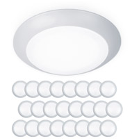 WAC Lighting FM-306-930-WT-24 Disc LED 7 inch White Flush Mount and Retrokit Kit Ceiling Light