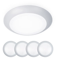 WAC Lighting FM-306-930-WT-4 Disc LED 7 inch White Flush Mount and Retrokit Kit Ceiling Light