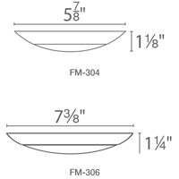 WAC Lighting FM-306-930-WT Disc LED 7 inch White Flush Mount Ceiling Light alternative photo thumbnail