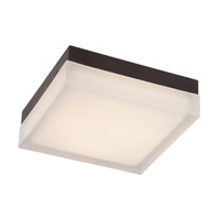 Dice LED 6 inch Bronze Flush Mount Ceiling Light in 3000K