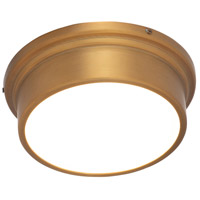 WAC Lighting FM-45008-AB York LED 8 inch Aged Brass Flush Mount Ceiling Light in 8in dweLED