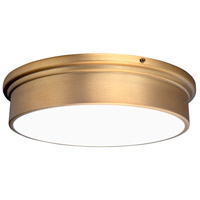 WAC Lighting FM-45012-AB York LED 12 inch Aged Brass Flush Mount Ceiling Light dweLED