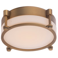 WAC Lighting FM-46014-AB Wright LED 14 inch Aged Brass Flush Mount Ceiling Light in 14in dweLED