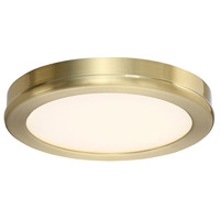 Geos LED 6 inch Brass Flush Mount Ceiling Light