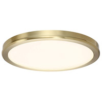 Geos LED 10 inch Brass Flush Mount Ceiling Light