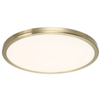 Geos LED 15 inch Brass Flush Mount Ceiling Light