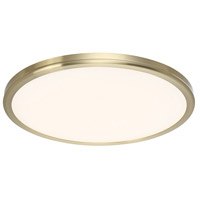 Geos LED 22 inch Brass Flush Mount Ceiling Light