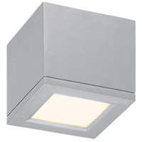 WAC Lighting Rubix Rubix 1 Light Outdoor Flush Mount in Brushed Aluminum FM-W2505-AL