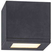 WAC Lighting Rubix Rubix 1 Light Outdoor Flush Mount in Black FM-W2505-BK