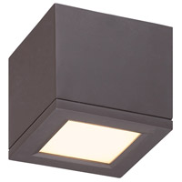 WAC Lighting Rubix Rubix 1 Light Outdoor Flush Mount in Bronze FM-W2505-BZ