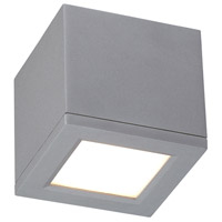 WAC Lighting Rubix Rubix 1 Light Outdoor Flush Mount in Graphite FM-W2505-GH