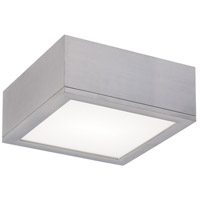 WAC Lighting Rubix Rubix 1 Light Outdoor Flush Mount in Brushed Aluminum FM-W2510-AL