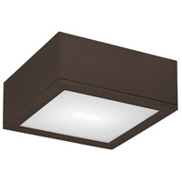 WAC Lighting Rubix Rubix 1 Light Outdoor Flush Mount in Bronze FM-W2510-BZ