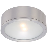 WAC Lighting FM-W2612-AL Tube LED 12 inch Brushed Aluminum Indoor/Outdoor Flush Mount