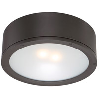 WAC Lighting FM-W2612-BZ Tube LED 12 inch Bronze Indoor/Outdoor Flush Mount