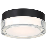 WAC Lighting FM-W57806-30-BK Dot LED 6 inch Black Outdoor Flush Mount, dweLED