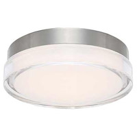 WAC Lighting FM-W57806-30-SS Dot LED 6 inch Stainless Steel Flush Mount Ceiling Light