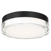 WAC Lighting FM-W57809-30-BK Dot LED 9 inch Black Outdoor Flush Mount, dweLED
