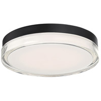 WAC Lighting FM-W57812-30-BK Dot LED 12 inch Black Outdoor Flush Mount, dweLED