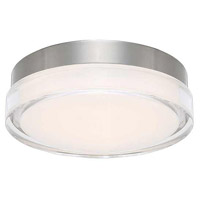 WAC Lighting FM-W57812-30-SS Dot LED 12 inch Stainless Steel Flush Mount Ceiling Light