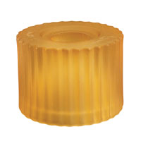 WAC Lighting G112-AM 100 Series Glass 2 inch Glass Only in Amber (100 Series Glass), Cylinder
