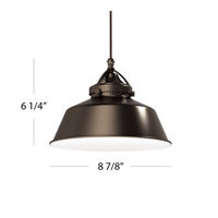 Early Electric 9 inch Dark Bronze Pendant Ceiling Light in Antique Bronze, Quick Connect