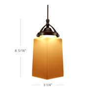WAC Lighting Huntington MP Monopoint Pendant (3000K LED) in Dark Bronze MP-LED498-AM/DB