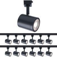 WAC Lighting H-8010-30-BK-12 Charge 1 Light 120V Black Line Voltage Track Head Ceiling Light H Track Fixture