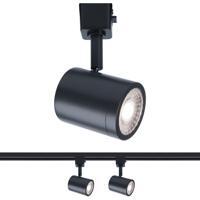 WAC Lighting H-8010-30-BK-2 Charge 1 Light 120V Black Line Voltage Track Head Ceiling Light H Track Fixture
