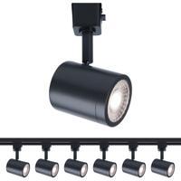 WAC Lighting H-8010-30-BK-6 Charge 1 Light 120V Black Line Voltage Track Head Ceiling Light H Track Fixture