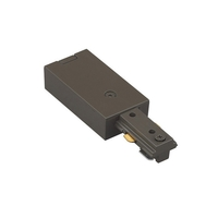 WAC Lighting H Series Live End Connector in Dark Bronze HLE-DB