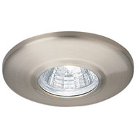 Mini Recessed MR11 Brushed Nickel Recessed Housing and Trim Ceiling Light