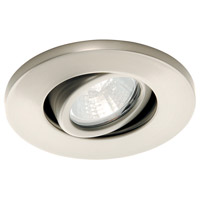 Mini Recessed MR11 Brushed Nickel Recessed Housing and Trim