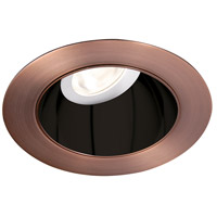 WAC Lighting HR3LEDT318PN927BCB Tesla PRO Module Specular Black Inside with Copper Bronze Exterior Adjustable Trim in 2700K, 90, 30 Degrees