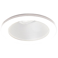 WAC Lighting HR-8411-WT/WT Signature MR16 White Step Baffle Trim in White (Recessed Lighting), IC and Non-IC Installations