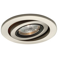 Recessed Lighting MR16 Brushed Nickel Recessed Trim and Socket Ceiling Light, IC and Non-IC Installations