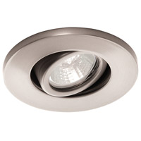 Recessed Lighting MR16 Brushed Nickel Recessed Trim and Socket Ceiling Light, Commercial and Residential Lighting