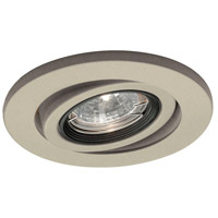 Recessed Lighting MR16 Brushed Nickel Recessed Trim and Socket Ceiling Light, IC Airtight Installations